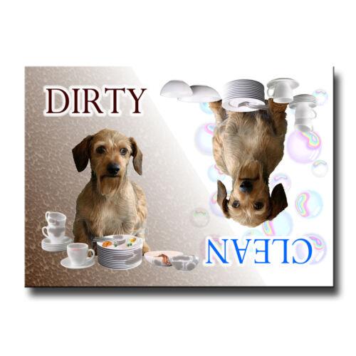 DACHSHUND Clean Dirty DISHWASHER MAGNET No 3 WIRED