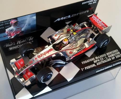 McLaren Mercedes MP 4 22 L.Hamilton 2007 1st Podium  530074312 1 43 Minichamps