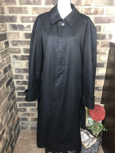 STAFFORD Black Classic Long Trench Coat Mac Outdoo