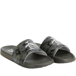 Mens-Original-Penguin-Pier-Sliders-Pool-Shoes-Green-Camo-Navy-7-8-9-10-11-12