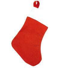 CALZINO Babbo Natale Calza BEFANA 20x32 GADGET Santa Claus Sock MERRY CHRISTMAS