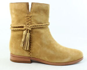 Frye-Womens-Tina-Whipstitch-Tassel-Camel-Ankle-Boots-Size-9-5