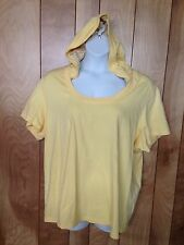 WOMEN'S NEW YORK LAUNDRY HOODED SHORT SLEEVE KNIT TOP-SIZE: 3X