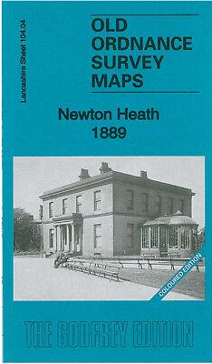 OLD ORDNANCE SURVEY MAP NEWTON HEATH 1889 MANCHESTER HAGUE STREET ALFRED STREET