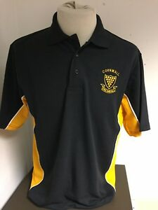 4400f182 best image is loading brand new cornwall black gold k475 polo shirt 14677  c9428