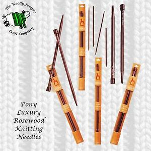 PONY-LUXURY-ROSEWOOD-KNITTING-NEEDLES-LENGTH-35CM