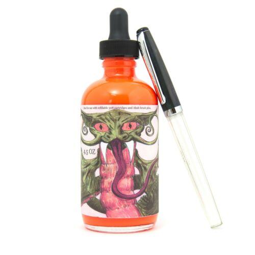 Noodler/'s InkDragon Catfish OrangeHighlighter Ink130ml Tinte mit Marker