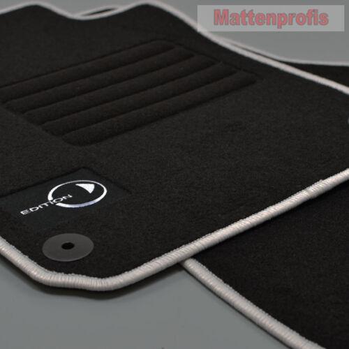 Mattenprofis Velours Logo Fußmatten für Smart Fortwo 453 ab Bj.07//2014 si