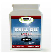Better Bodies Krill Oil Superba 500mg 60 Capsules HIGH Quality UK Manufactured