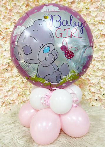 Pink Baby Girl Tatty Teddy Inflated Balloon Table Centrepiece FULLY INFLATED