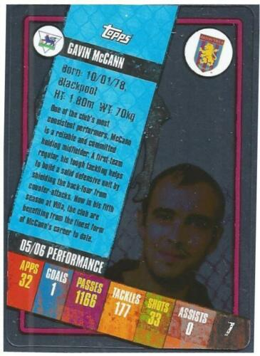 TOPPS I-CARD SERIES 2006-07 #007-ASTON VILLA-GAVIN McCANN