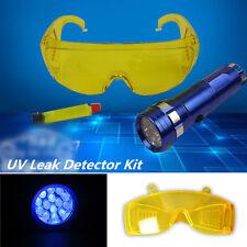 Auto Car HVAC A/C Fluid Gas UV Leak Detector Kit +LED Flash Light+Safety Glasses