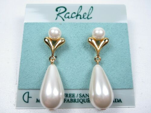 Rachel Gold Plated Earrings with Pearls 1593