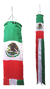 Mexico Flag Super 5' Windsock