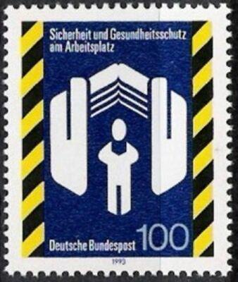 Bund Nr.1649 ** Sicherheit Am Arbeitsplatz 1993, Postfrisch Knitterfestigkeit