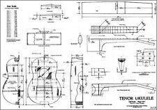 Tenor Ukulele Plan Uke Plan Templates Hawiian Guitar