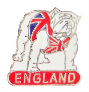 England Bulldog In A Union Jack Pin Badge