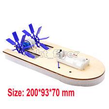Electric Wood Boat Toy Kit Propeller Motor Shaft DIY Model Hobby School Kids