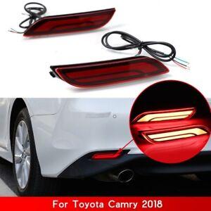 Details About For Toyota Camry 18 19 Car Led Light Rear Warning Bumper Light Brake Light Rear