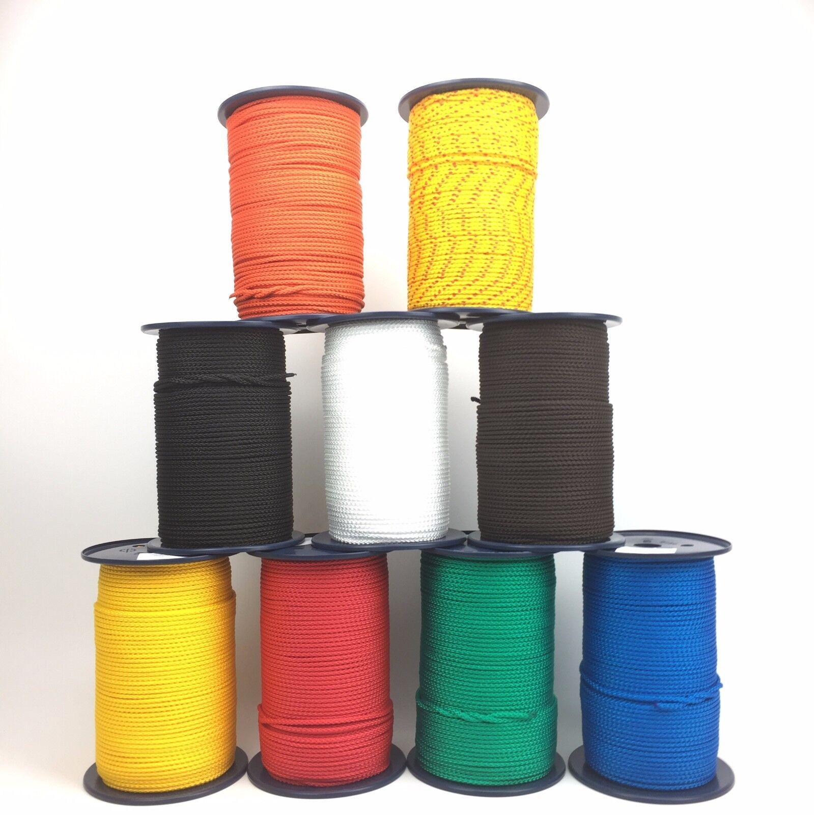 8mm Geflochtene Polypropylen Schnur Colourline Paracord Zugleine Craft Stabil