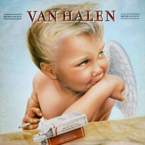 1984 Van Halen Hard Rock Band Album Cover Poster Silk Art fabric decor24x24V1137