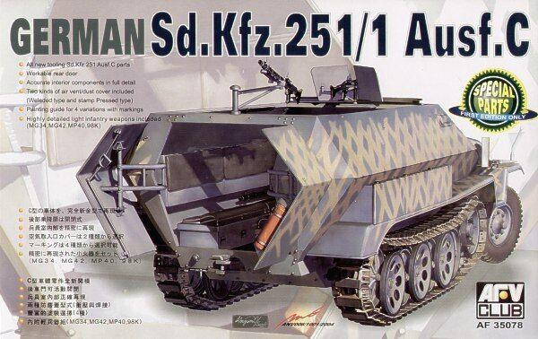 Afv Club 1 35 Sd.kfz. 251 1 Ausf. C Schutzenpanzer  35078