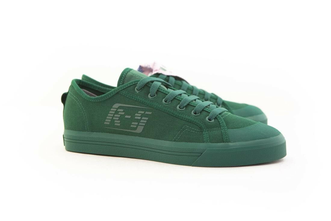 B22534 Adidas x Raf Simons hommes Spirit Low Asymm Tongue green dark green rose