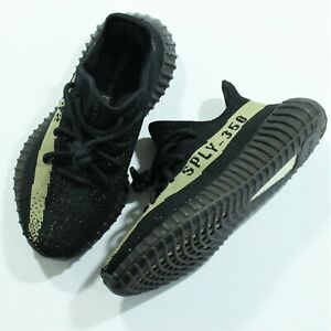 c863121b39ce3 Adidas Yeezy Boost 350 V2 Core Black Green Size 4 Men s   5.5 ...