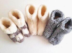2019 Neuer Stil Ladie's Men's Very Warm Fleece Sheep Wool Boots Slippers All Sizes & Models Mit Den Modernsten GeräTen Und Techniken