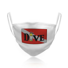 Washable Reusable Face Mask Scuba Diving Flag Air Bottle Fashion Covering Shield