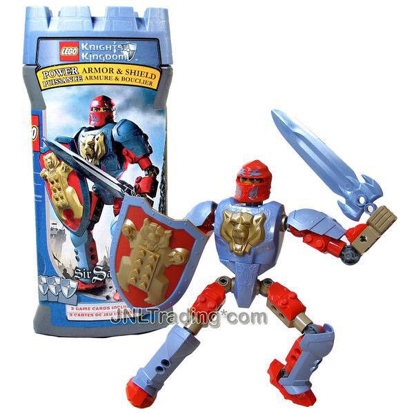 NEW 2005 LEGO Knights Kingdom 7.5  Figure 8794 Knight of the Bear SIR SANTIS