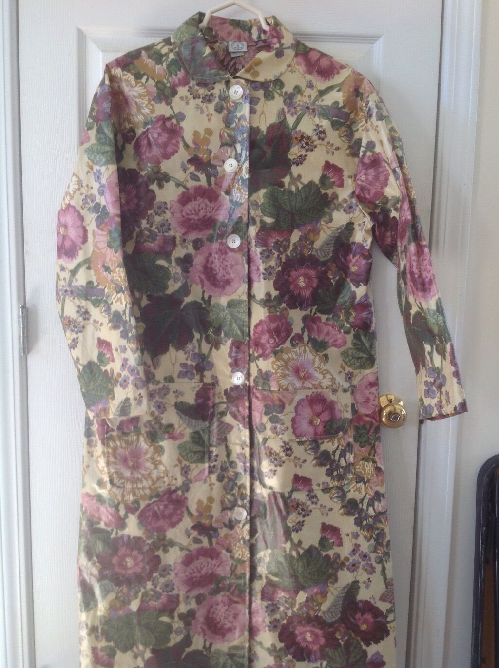 NORDIC HOUSE DESIGNS, Floral, Long Raincoat, Approximately Size M (See Below)