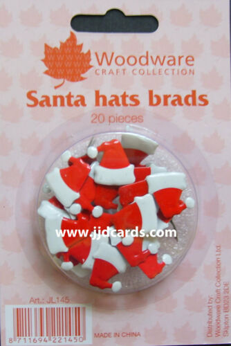Christmas Brads 5 Packs 192pcs Bargain Bundle Woodware
