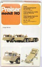 Preiser H0 1110 FAUN-Kranwagenfahrgestell KF 35.41/50 (2 Stück) - NEU + OVP