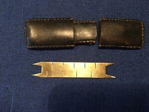 Antiker messing taschen entfernungsmesser im lederetui ca ebay