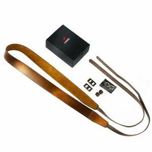 CANPIS Adjustable Leather Camera Shoulder Neck Belt Strap for DSLR Camera Brown