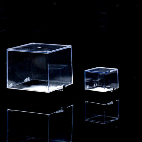 Gem Collection Transparent Display Show Case Small Acrylic Box 6.5x6.5x7cm
