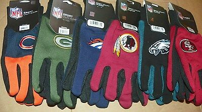 NEW NFL Football Gloves / Sport Utility Gloves / All Purpose Gloves - ALL TEAMS!