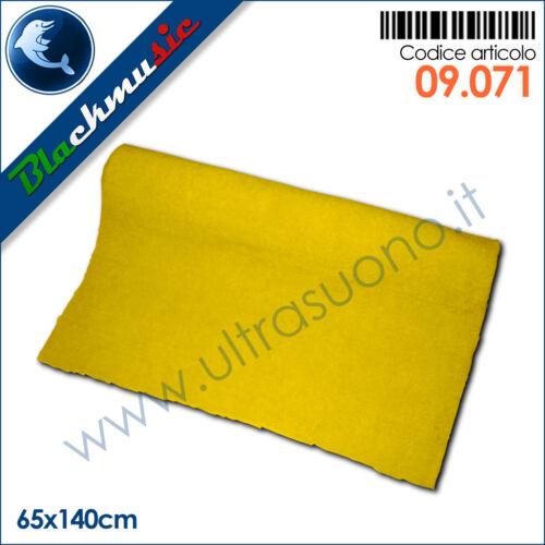 subwoofer e pianali Moquette acustica adesiva giallo 65x140cm per interni