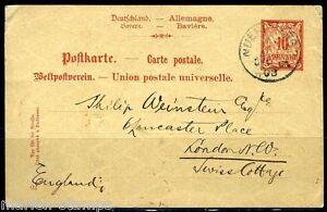 GERMANY-BAVARIA-NUREMBERG-4-1-1903-POSTCARD-TO-LONDON-GREAT-BRITAIN-AS-SHOWN
