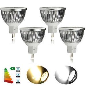 10X-GU10-MR16-E27-3W-4W-LED-Leuchtmittel-Birne-Strahler-Spot-Lampe-Warmweiss-Weiss