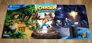 Crash Nasenbeutler n. Sane Trilogie Rare Promo Poster Playstation 4 ps4 120x55cm