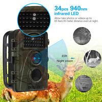 16gb 12mp 2.4 Tft Digital Infrared Scouting Hunting Camera Wildlife Ir Cut+bag