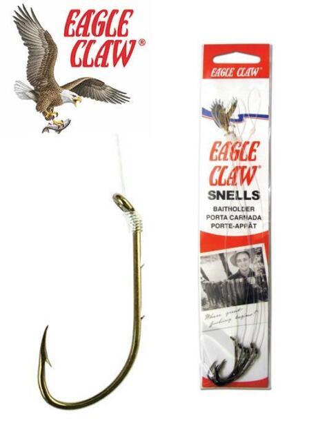 18 SNELLED BAITHOLDER EAGLE CLAW 139 Bait Holder  Fishing Hooks Size 6 USA HOOKS