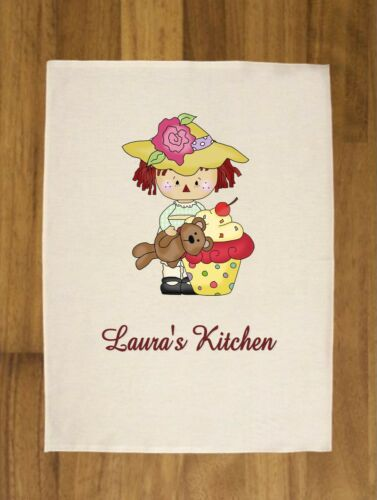 Home Furniture Diy Personalised Luxurious Tea Towel 100 Cotton Ragged Annie Cupcakes Cookware Dining Bar