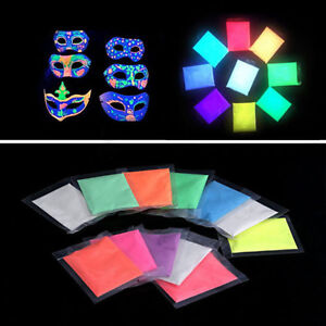 10g Glow in Dark Fluorescent Powder Resin Pigment Coating Colorful ... 5d41d8b2f419