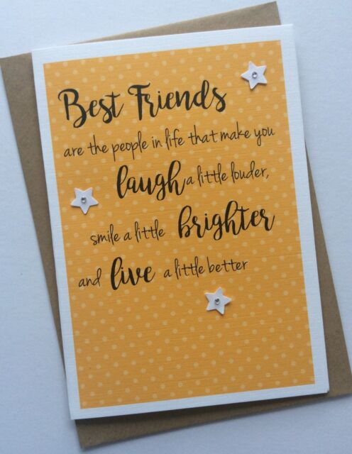 Handmade Personalised Birthday Or Thank You Card Best Friends