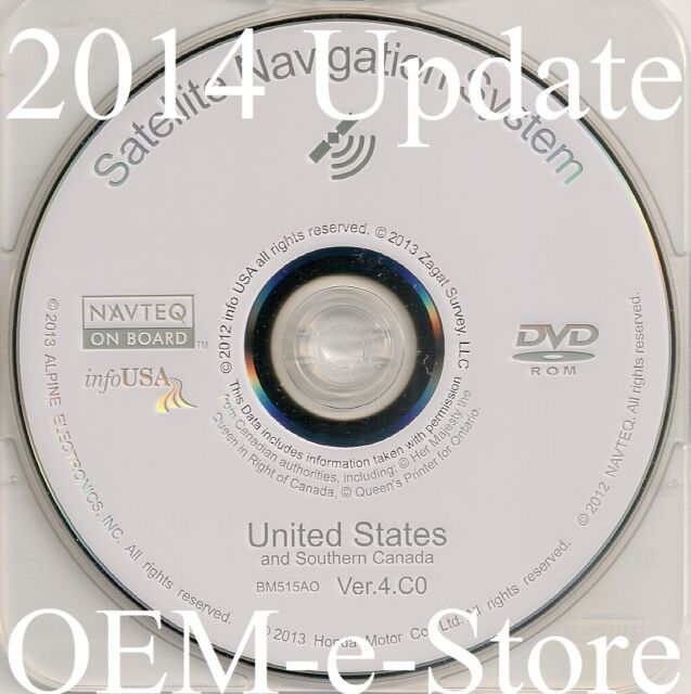 2007 2008 Acura TL & TL Type-S Navigation DVD Map U.S