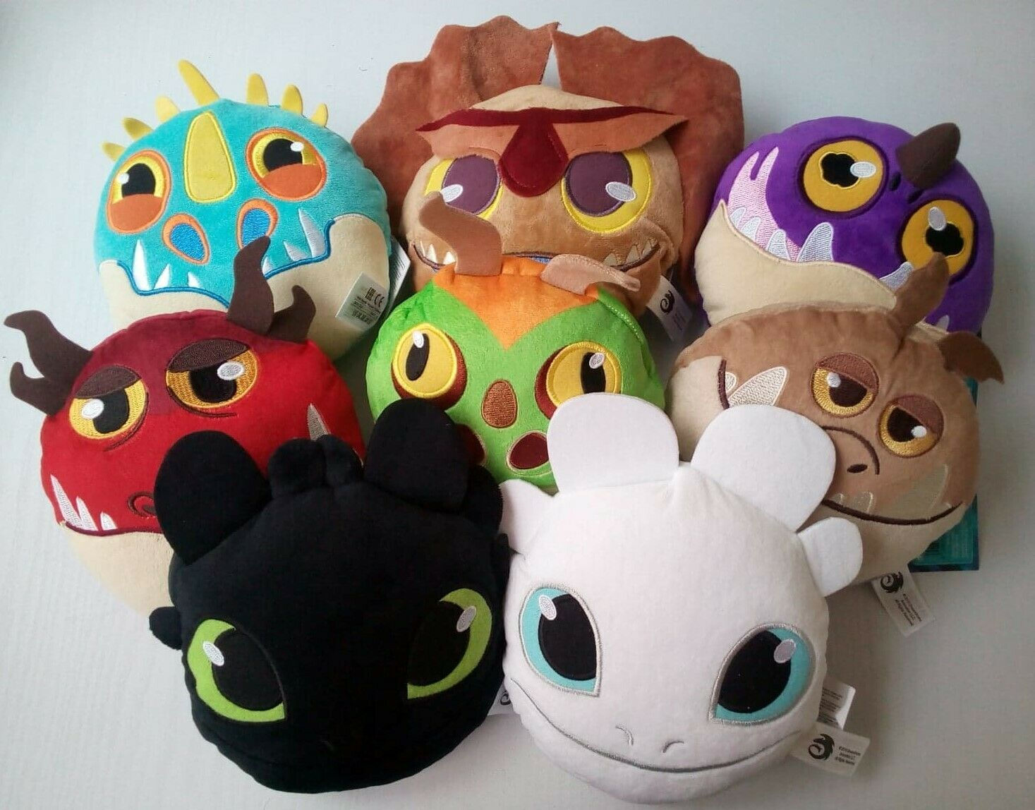 Complete Set of 8 Hand Pocket Soft Plush 6  Toy How to Train Your Dragon 3