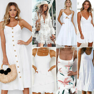 Women-039-s-Summer-Boho-Casual-Maxi-Evening-Party-Cocktail-Beach-Dress-Sundress-Lot